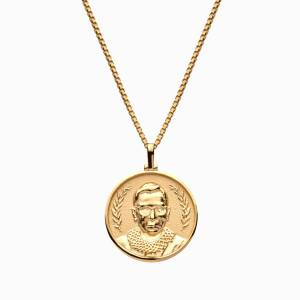 AweInspired Solid 14k Yellow Gold Ruth Bader Ginsburg Necklace