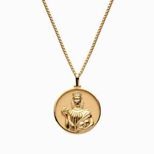 AweInspired Solid 14K Yellow Gold Persephone Necklace
