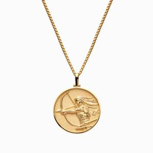 Solid 14k Yellow Gold Mulan Necklace