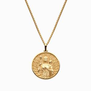 AweInspired Solid 14k Yellow Gold Hera Necklace