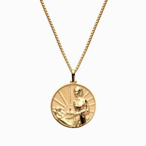 AweInspired Solid 14k Yellow Gold Florence Nightingale Necklace