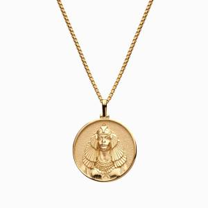 AweInspired Solid 14k Yellow Gold Cleopatra Necklace