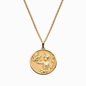 AweInspired Solid 14k Yellow Gold Athena Necklace