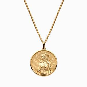 AweInspired Solid 14k Yellow Gold Aphrodite Necklace