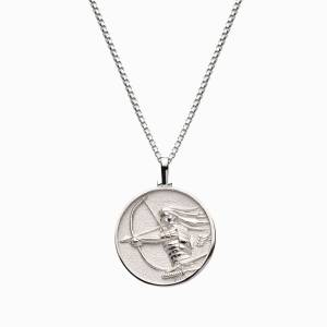Solid 14k White Gold Mulan Necklace
