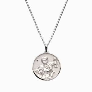 AweInspired Solid 14k White Gold Harriet Tubman Necklace