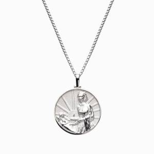 Solid 14k White Gold Florence Nightingale Necklace