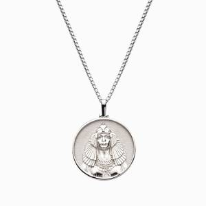 AweInspired Solid 14k White Gold Cleopatra Necklace