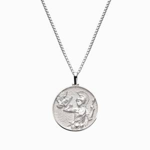 AweInspired Solid 14k White Gold Athena Necklace