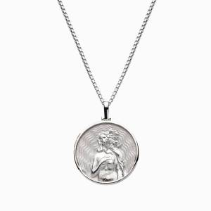Solid 14k White Gold Aphrodite Necklace