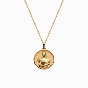 AweInspired Solid 14k Yellow Gold Mini Persephone Necklace