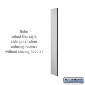 Salsbury Industries 33300GRY Side Panel - for 5 Feet High - 15 Inch Deep Designer Wood Locker - without Sloping Hood -