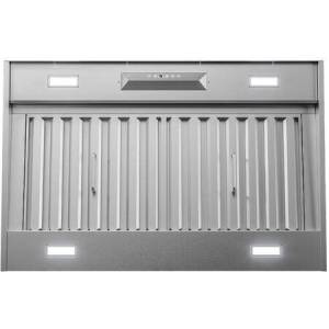 """Zephyr AK9334BS 36"""" Monsoon II Range Hood Insert with 1200 CFM  ACT Technology  LumiLight LED Lighting and Auto Delay-Off in Stainless"""