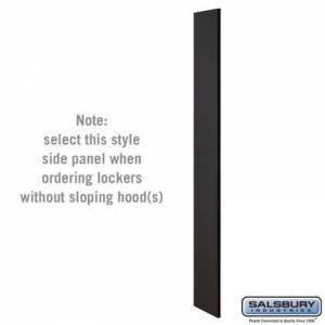 Salsbury Industries 33330BLK Side Panel - for 6 Feet High - 15 Inch Deep Designer Wood Locker - without Sloping Hood -
