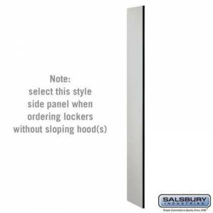 Salsbury Industries 33330GRY Side Panel - for 6 Feet High - 15 Inch Deep Designer Wood Locker - without Sloping Hood -