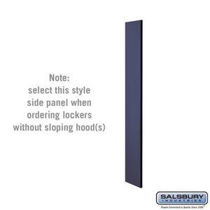 Salsbury Industries 33300BLU Side Panel - for 5 Feet High - 15 Inch Deep Designer Wood Locker - without Sloping Hood -