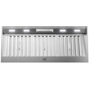 """Zephyr AK9446BS 48"""" Core Series Monsoon Connect Range Hood Insert with 700 CFM  Zephyr Connect App  Pro Baffle Filters and Airflow Control Technology in"""
