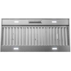 """Zephyr AK9346BS 48"""" Monsoon II Range Hood Insert with 1200 CFM  ACT Technology  LumiLight LED Lighting and Auto Delay-Off in Stainless"""