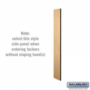 Salsbury Industries 33300MAP Side Panel - for 5 Feet High - 15 Inch Deep Designer Wood Locker - without Sloping Hood -