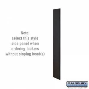 Salsbury Industries 33300BLK Side Panel - for 5 Feet High - 15 Inch Deep Designer Wood Locker - without Sloping Hood -