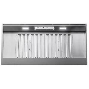 """AK9240BS 42"""" Monsoon I Range Hood Insert with 1200 CFM  ACT Technology  LumiLight LED Lighting and Auto Delay-Off in Stainless"""