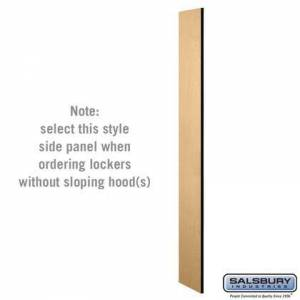 Salsbury Industries 33330MAP Side Panel - for 6 Feet High - 15 Inch Deep Designer Wood Locker - without Sloping Hood -