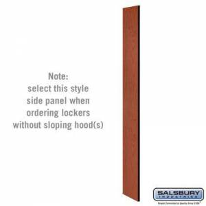 Salsbury Industries 33330CHE Side Panel - for 6 Feet High - 15 Inch Deep Designer Wood Locker - without Sloping Hood -