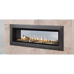 """Majestic Echelon II Series ECHEL36STIN 36"""" Natural Gas See-Through Top Direct Vent Fireplace with IntelliFire Plus Ignition System  30 000 BTU and LED"""