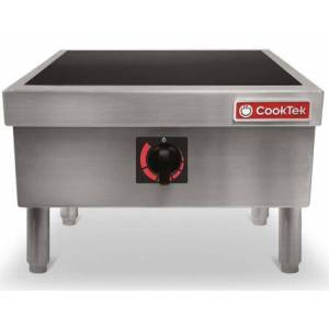 """CookTek MSP7000-200 22"""" Stock Pot Induction Rangetop with 7000 Watts  Automatic Pan Detection and Rotary Knob in Stainless"""