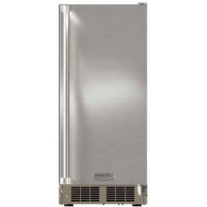 """Marvel MO15CRS1XS 15"""" Outdoor Crescent Ice Maker with 25 lbs. Daily Ice Production  Field Reversible Door and UL Listed in Stainless"""