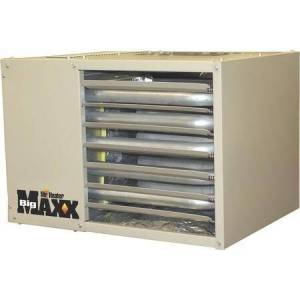Mr. Heater MHU125NG Big Maxx Natural Gas Unit Heater with 125 000 BTU Output  Propane Conversion Kit and Electric High Velocity Fan in