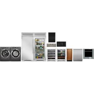 Appliances Connection Picks 12 Piece Professional Kitchen Appliances Package with Washer and Dryer in Panel