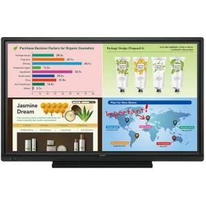 """Sharp PN-L703W 70"""" Interactive LED Display TV System with Built-In Wireless Presentation Capability  10-Point Multi-Touch Screen  Enhanced Writing Surface"""