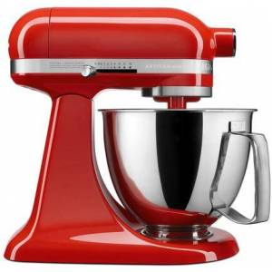 KitchenAid KSM3316XHT Artisan Mini Tilt Head Stand Mixer with 10 Optimized Speeds  Soft Start  Stainless Steel Bowl Finish  and 10 Different Attachements  in