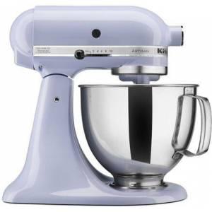 KitchenAid KSM150PSLR Artisan Tilt-Head Stand Mixer 5 Quarts Stainless Steel  Bowl  10 Speeds  Pouring Shield  Coated Cough Hook  Flat Beater  in Lavender