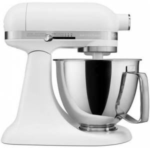 KitchenAid KSM3316XFW Artisan Mini Tilt Head Stand Mixer with 10 Optimized Speeds  Soft Start  Stainless Steel Bowl Finish  and 10 Different Attachements  in