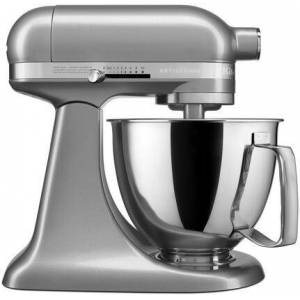 KitchenAid KSM3316XCU Artisan Mini Tilt Head Stand Mixer with 10 Optimized Speeds  Soft Start  Stainless Steel Bowl Finish  and 10 Different Attachements  in