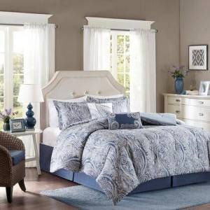 Harbor House Stella Collection HH10-1578 Queen Size 6 Piece Comforter Set with 100% Cotton  300 Thread Count and Printed Design in Multi