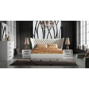 ESF Miami MIAMIBEDKS-2NSDRMR 5-Piece Bedroom Set with Queen Size Bed  2 Nightstands  Dresser and Mirror in