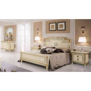 ESF Liberty LIBERTYBEDKS-2NSDRMR 5-Piece Bedroom Set with King Sized Bed  2 Nightstands  Dresser and Mirror in