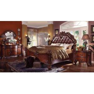 Acme Furniture Vendome Collection 21997EK6PCSET Eastern King Size Bed + Dresser + Mirror + Chest + 2 Nightstands in Cherry