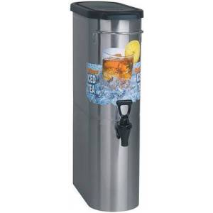 """Bunn-O-Matic 396000001 Oval Style Narrow Iced Tea and Coffee Dispenser with 448 oz/hr Capacity(3.5 Gal.)  8"""" Cup Clearance  Front - Back Handles  Full-Color Iced"""