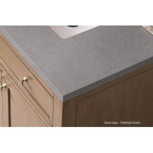 """Brittany Collection 650-V30-BKO-3GEX 30"""" Single Vanity  Black Onyx  with 3 CM Grey Expo Quartz Top with"""