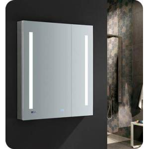 """Fresca FMC013036 Tiempo 30"""" Wide x 36"""" Tall Bathroom Medicine Cabinet with LED Lighting and Defogger  in"""