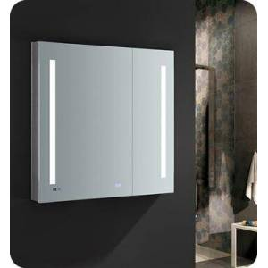 """Fresca FMC013636 Tiempo 36"""" Wide x 36"""" Tall Bathroom Medicine Cabinet with LED Lighting and Defogger  in"""