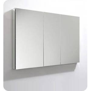 """Fresca FMC8014 49"""" x 36"""" Medicine Cabinet with Frameless Design  Three Mirrored Doors and Eight Adjustable Glass"""