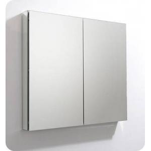 """Fresca FMC8011 40"""" x 36"""" Medicine Cabinet with Frameless Design  Two Mirrored Doors and Four Adjustable Glass"""