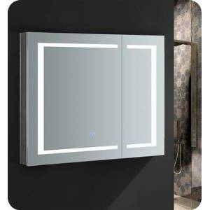 """Fresca FMC023630 Spazio 36"""" Wide x 30"""" Tall Bathroom Medicine Cabinet with LED Lighting and Defogger  in"""