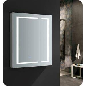 """Fresca FMC023036 Spazio 30"""" Wide x 36"""" Tall Bathroom Medicine Cabinet with LED Lighting and Defogger  in"""