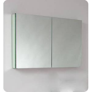 """Fresca FMC8010 40"""" Wide Bathroom Medicine Cabinet with 2 Mirrored Doors and 2 Glass"""